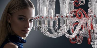 TREVI chandelier in red