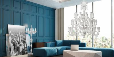 DIAMANTE Chandelier & Floor Lamp